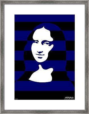 Mona Lisa Framed Print by Asbjorn Lonvig