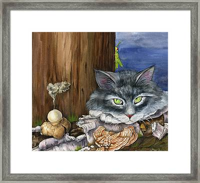 Mona With The Mushrooms Framed Print by Mindy Lighthipe