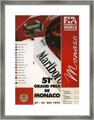 Monaco F1 1993 Framed Print by Georgia Fowler
