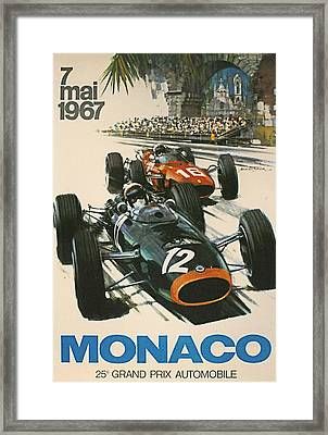 Monaco Grand Prix 1967 Framed Print by Georgia Fowler