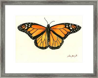 Monarch Butterfly Framed Print by Juan Bosco