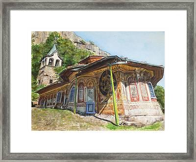 Monastery Of The Holy Transfiguration Of God  Bulgaria Framed Print by Henrieta Maneva