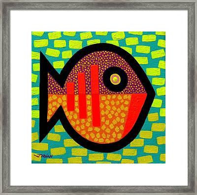 Monday Fish Framed Print by John  Nolan