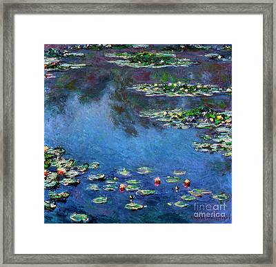 Monet: Waterlilies, 1906 Framed Print by Granger