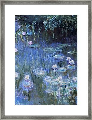 Monet: Waterlilies Framed Print by Granger