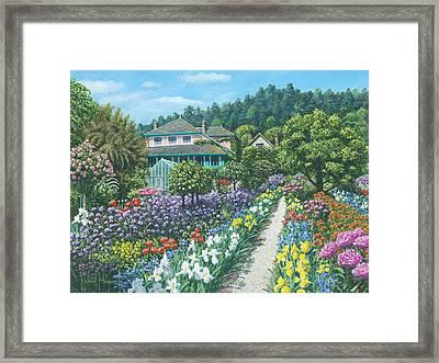 Monet's Garden Giverny Framed Print by Richard Harpum
