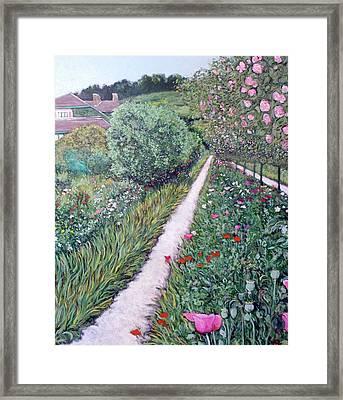 Monet's Garden Path Framed Print by Tom Roderick