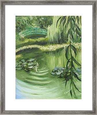Monet's Garden Framed Print by Tina Swindell