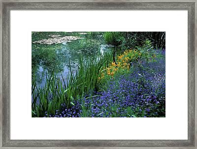 Monet's Lily Pond Framed Print by Kathy Yates