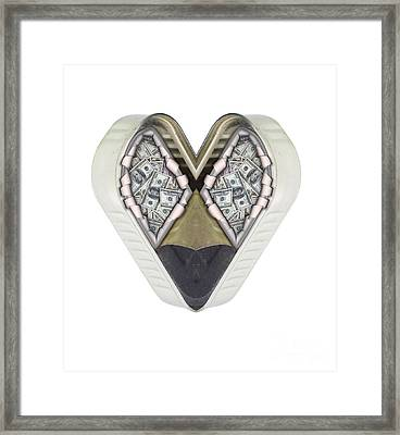 Money And Heart Framed Print by Michal Boubin