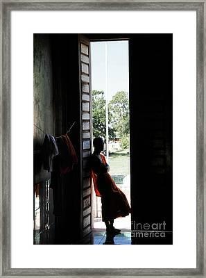 Monk Framed Print by Marion Galt