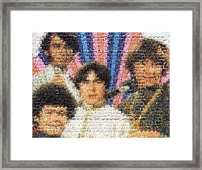 Monkees Mosaic Framed Print by Paul Van Scott