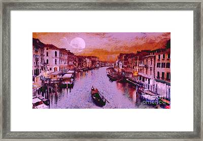 Monkey Painted Italy Again Framed Print by Catherine Lott