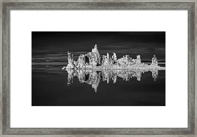 Mono Lake In Monochrome Framed Print by Joseph Smith