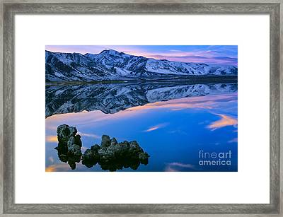 Mono Lake Twilight Framed Print by Inge Johnsson