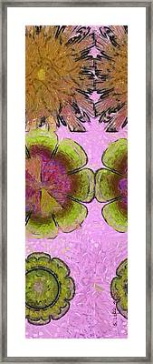 Monoglyceride Placing Flower  Id 16164-220545-11590 Framed Print by S Lurk