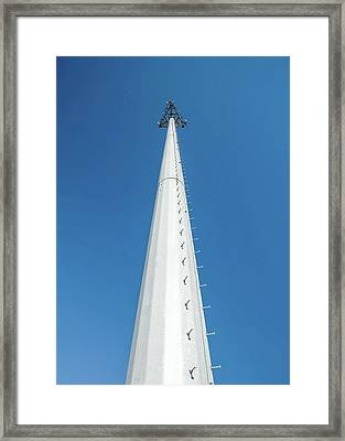 Monopole Tower Framed Print by Todd Klassy
