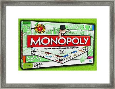 Monopoly Board Game Painting Framed Print by Tony Rubino