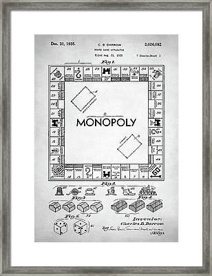 Monopoly Patent Framed Print by Taylan Soyturk