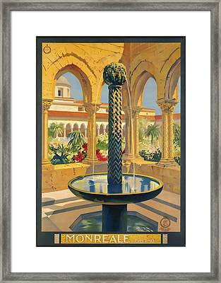Monreale Palermo Framed Print by David Wagner