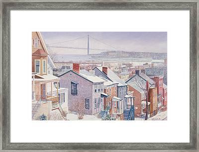 Monroe St Staten Island Framed Print by Anthony Butera