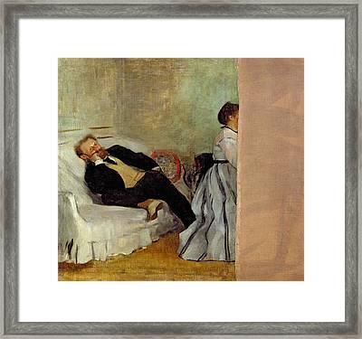 Monsieur And Madame Edouard Framed Print by Edgar Degas