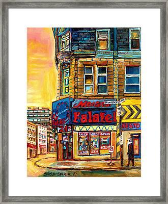 Monsieur Falafel Framed Print by Carole Spandau
