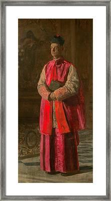 Monsignor James P. Turner Framed Print by Thomas Eakins