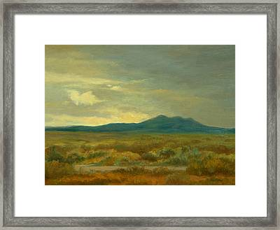 Monsoon Season Near Taos Framed Print by Phyllis Tarlow