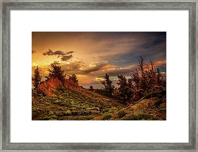 Monsoon Skies Over The Whites Framed Print by Dan Holmes