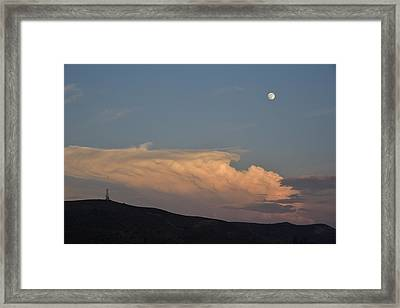 Monsoon Sunset II Framed Print by Linda Brody