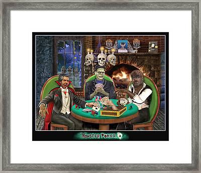 Monster Poker Framed Print by Glenn Holbrook