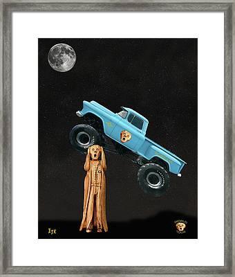 Monster Truck The Scream World Tour  Framed Print by Eric Kempson