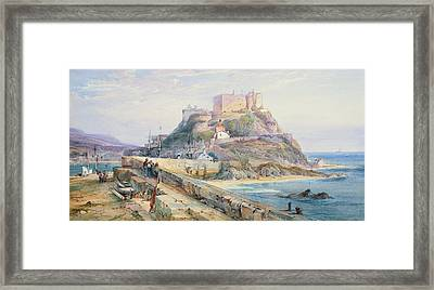 Mont Orgueil Castle Framed Print by Richard Principal Leitch