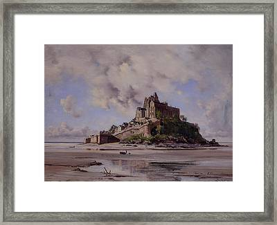Mont Saint Michel Framed Print by Emmanuel Lansyer