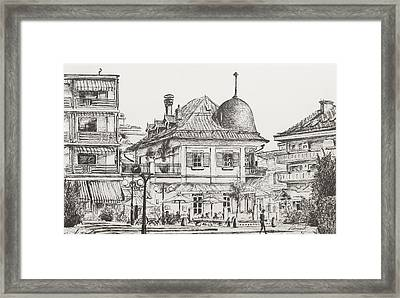 Montana  Crans Montana Switzerland Le Farinet Framed Print by Vincent Alexander Booth