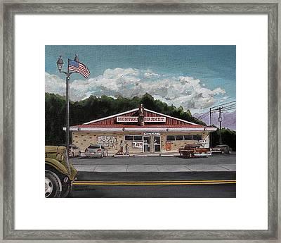 Montana Market Framed Print by Steve Beaumont