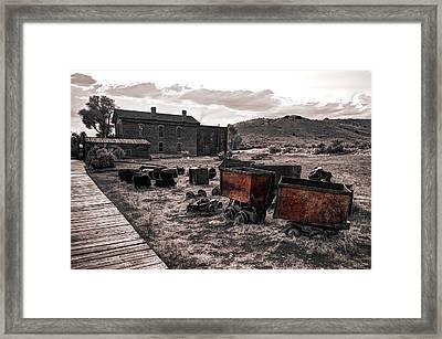 Montana Mining History Framed Print by Daniel Hagerman