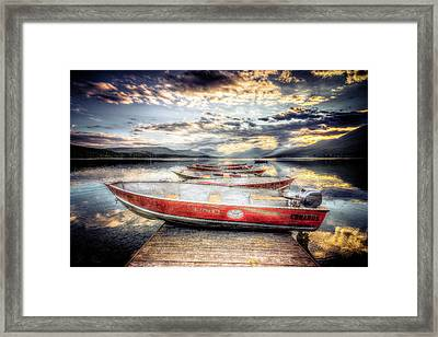 Montana Outboard Framed Print by Spencer McDonald