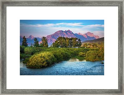Montana Purple Mountains Framed Print by Inge Johnsson
