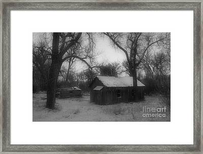 Montana Winter Twilight Bw Framed Print by Chalet Roome-Rigdon
