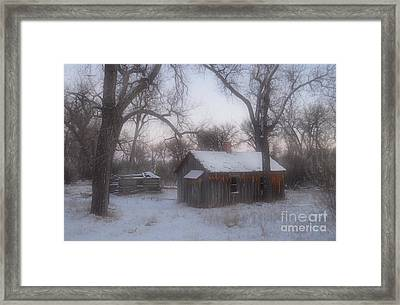 Montana Winter Twilight Framed Print by Chalet Roome-Rigdon