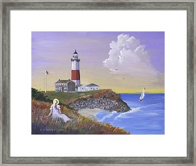 Montauk Lighthouse Framed Print by Jerry McElroy
