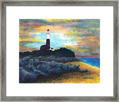 Montauk Point Framed Print by Teddy Campagna