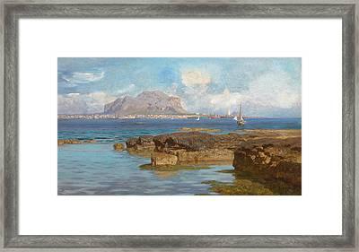 Monte Pellegrino Framed Print by Francesco Lojacono