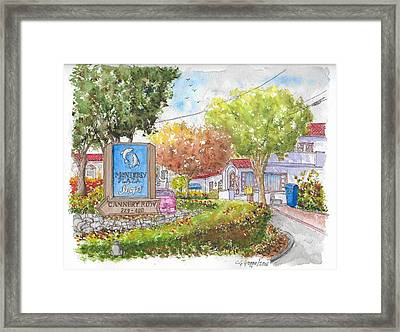 Monterey Plaza Shops In Cannery Row, Monterey, California Framed Print by Carlos G Groppa