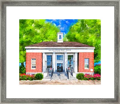 Montezuma Georgia - New Deal Era Post Office Framed Print by Mark Tisdale