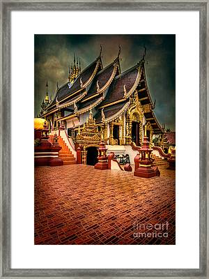 Monthian Temple Chiang Mai  Framed Print by Adrian Evans