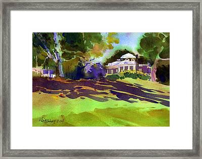 Monticello In October Framed Print by Lee Klingenberg