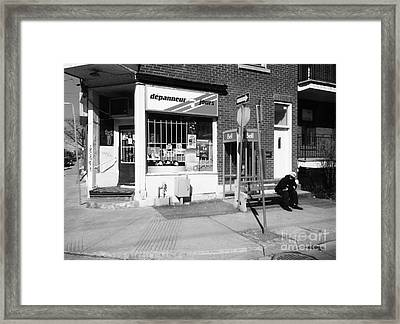 Montreal Depanneur Framed Print by Reb Frost